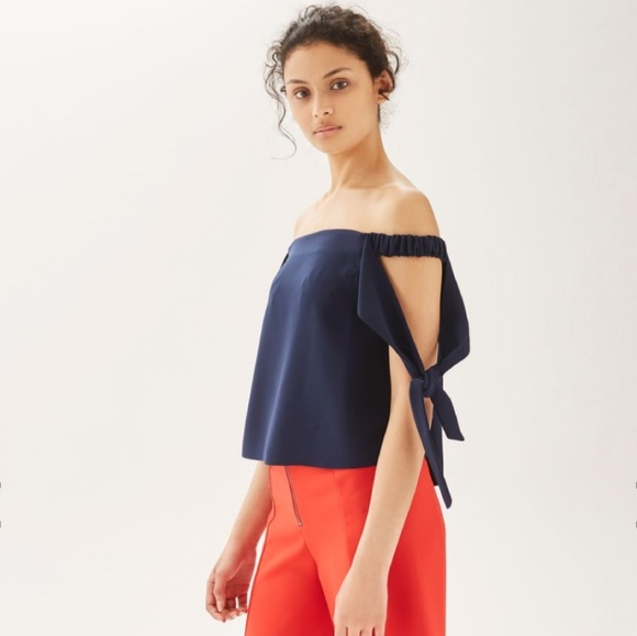 d2be11d2422811 Topshop Tied Sleeve Structured
